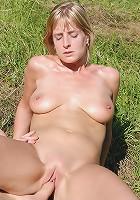 Sophia M from AllOver30 completely enjoying her mans hard cock