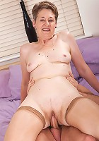 60 year old Dee from AllOver30 fucks and sucks cock like a pro