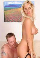 Gorgeous MILF Tabitha takes his throbbing cock all the way