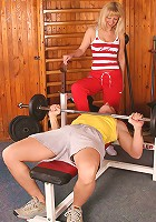 Bushy beaver MILF gets it on with her fitness instuctor