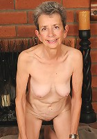 71 year old grandma Cassie from AllOver30 spreads her furry beaver