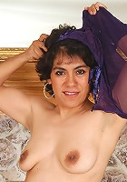 Very hairy pussy on this 44 year old Mexican MILF