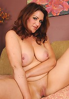 35 year old MILF Ryan from AllOver30 displaying her all natural boobs