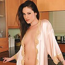Sexy mature brunette Samantha Ryan looking fantastic in… silk