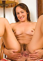 47 year old Carla from AllOver30 strips and spreads her pussy