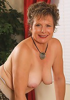 Hot bodied MILF Judy spreads herself wide on the pool table