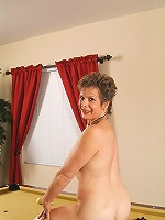 Veronica B from AllOver30 spreads her mature ass for the cameraman