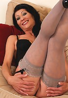 52 year brunette Kitty S spreading her ass wide for all of her great fans
