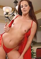 Redheaded MILF Sabrina has all your treats hot and ready