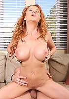 Auburn haired nympho Janet can't get enough dick,