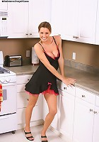 Jen loves getting busy on the counter top!