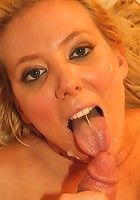 Now this is one sweet slut! Kara Knox is the MILF next door, with the attitude of a filthy whore! Cum watch her take a load all over her pretty face!