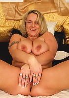 Sexy MILF shakes her big tits and gets plowed!