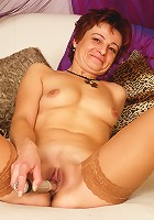 50 year old mature slut gets rammed in her aged slut hole!