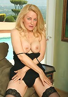 Sultry blonde old lady can't get enough dick!
