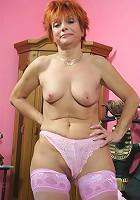 Hot redhead granny gets fucked!