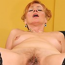 Black cock loving grandma gets stuffed!
