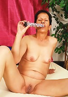 Older granny gets some cock in her!
