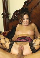 Sexy super MILF rides dick till she screams and he creams!