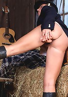 Lana loves to be in her barn and masturbate her tight pussy