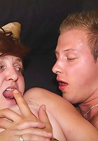 Sexy granny and his young dick