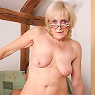 Granny feeds on dick and loves it