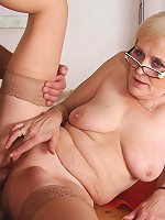 Granny is a fiend for young cock