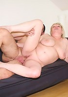 Hot cum load for granny whore