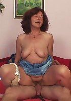 Granny caught fucking son in law