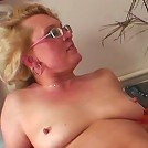 His wife comes into the room and finds him fucking the slutty granny and she gets pissed off