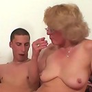 Sultry mature blonde in sexy glasses receives a big cock in her wet box and loves it