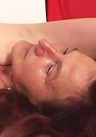 The hot old grandma takes advantage of a bound man and rides him with great lust