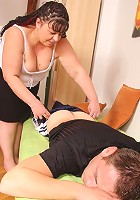 Son in law is horny and he fucks the mature fatty hard with his big young cock