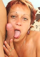 His cock takes a trip in her mature mouth and then visits her mature pussy to complete it
