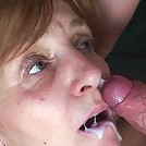 He goes for the mature tits first and then he wants his cock in her wet old pussy
