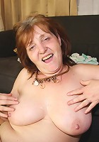 Mature with a flabby body smokes and makes her son in law crazy for her hot old sexiness