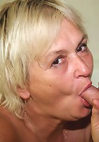 A good hard slamming into her mature pussy feels good and so does cumming on her