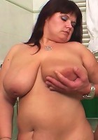 She is a cock craver and the young man is going to fill her old pussy with his meat