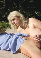Fucking his hot mature mother in law and cumming when she strokes his big boner hard