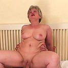 Granny with a chubby body gives a blowjob and gets her pussy hammered so hard