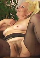 His mother in law gets aroused at the thought of having sex and the two of them bone hard
