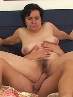Her mature mouth gives him head and her naughty old pussy is then fucked deeply by him