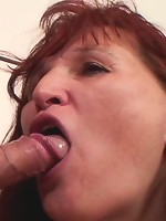 His mother in law is old but horny as hell and she wants his cock while daughter watches