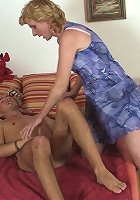 Slutty mama loves young dick