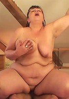 The sultry grandma would very much like to take his boner in her tight pussy and she gets it