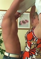 Grandmother desires youthful dick and loves the fat cock meat up inside her pussy