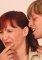 She can't get enough of hard young dick in her tight granny body and he delivers it