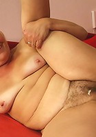 The granny babe blows him and he does his part by fucking her pussy with abandon