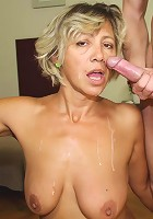 She's a lusty granny with a desire for hard dick all the time that he's going to fulfill today