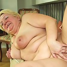 She's a fat old whore and his cock is perfect for her ancient and dripping wet pussy hole